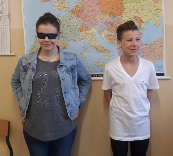 z WOS-u - Oliwia Czarnecka 2a i Radosław Miadiełko 3c